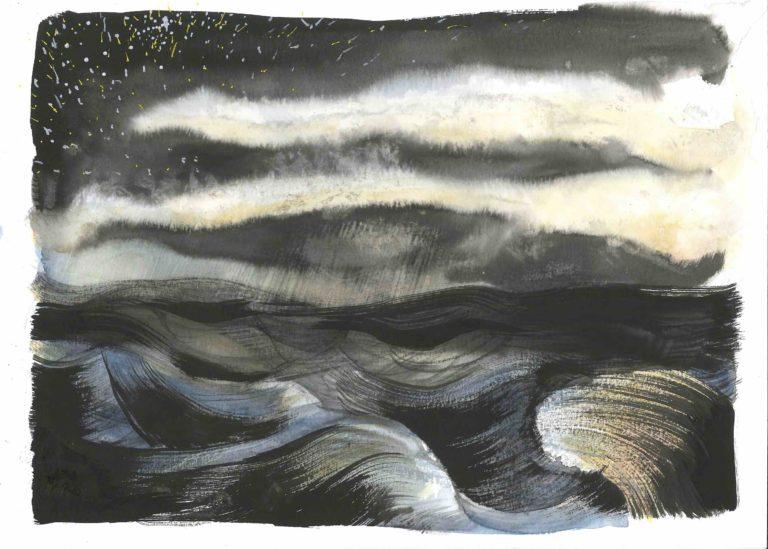 mer de nuit tempete